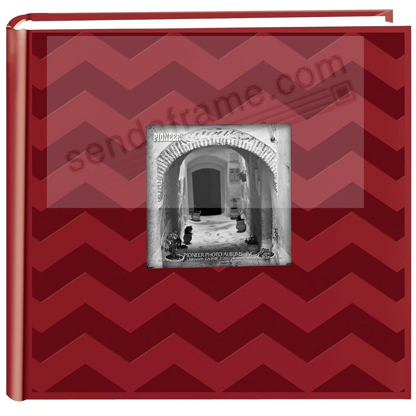 CHEVRON RED Cloth 2-up frame cover photo album by Pioneer®