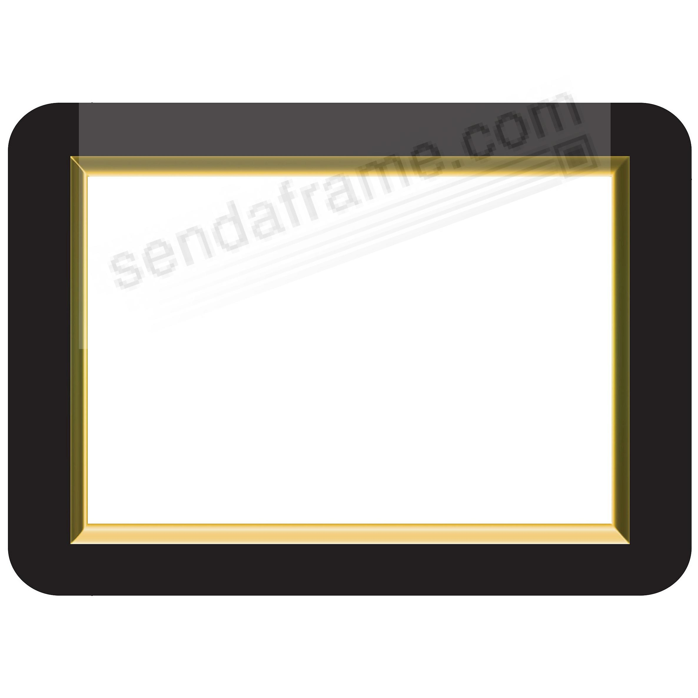 GOLD BEVELLED 8.5x11 Frame with Clear DRY ERASE™ by Fodeez ...