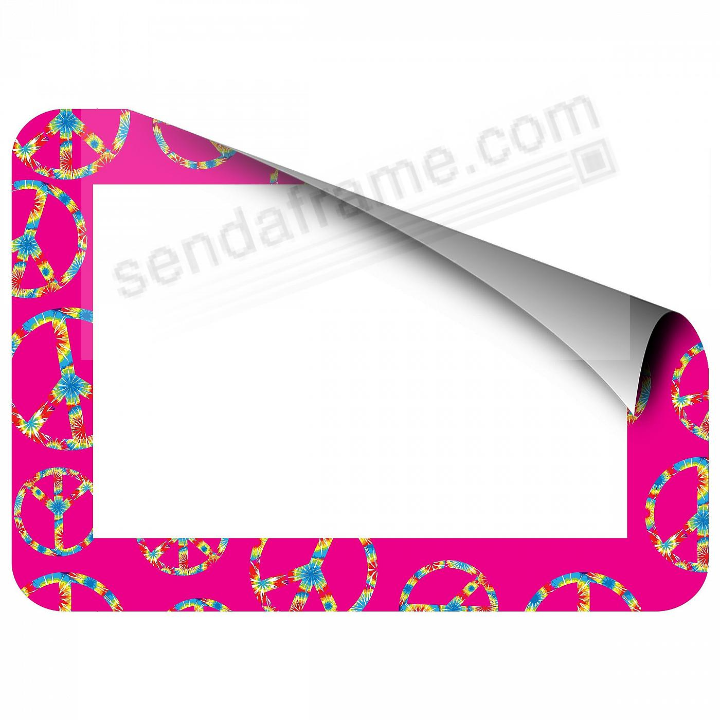 PINK PEACE TRENDYKIDZ 4x6 Frame with Clear DRY ERASE™ by Fodeez™
