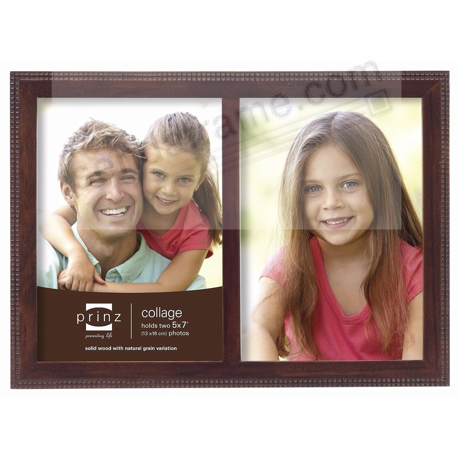 sonoma espresso patterned double 5x7 frame by prinz picture frames photo albums personalized and engraved digital photo gifts sendaframe - Double 5x7 Picture Frame