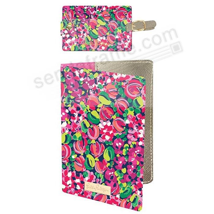 wild confetti luggage tag and passport holder lilly pulitzer
