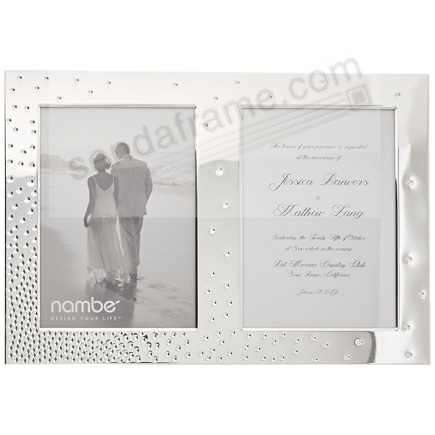 The New DAZZLE modern design INVITATION DUO 5x7 frame by Nambe'®