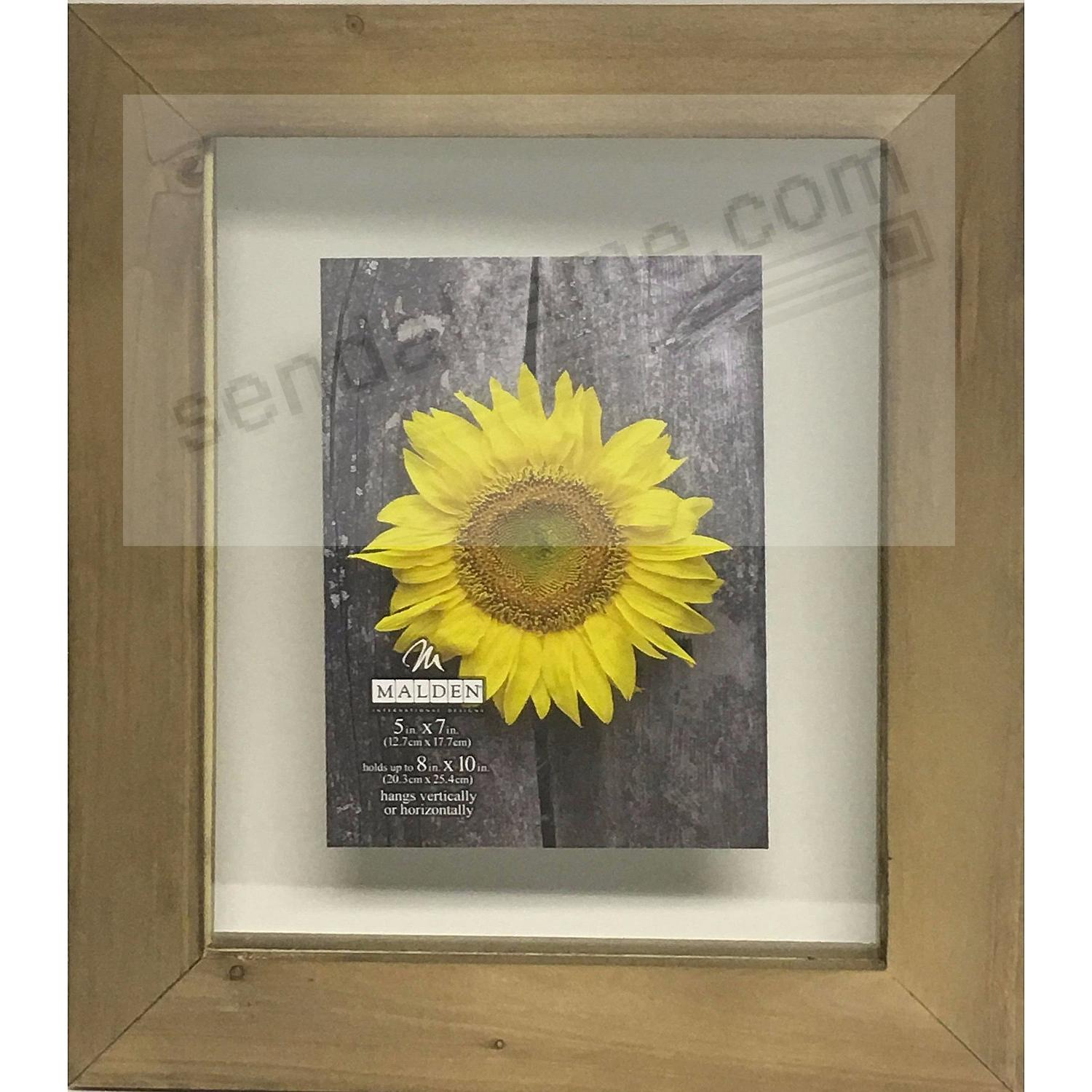 BARNWOOD DISTRESS FLOAT 8x10/5x7 frame by Malden® - Picture Frames ...