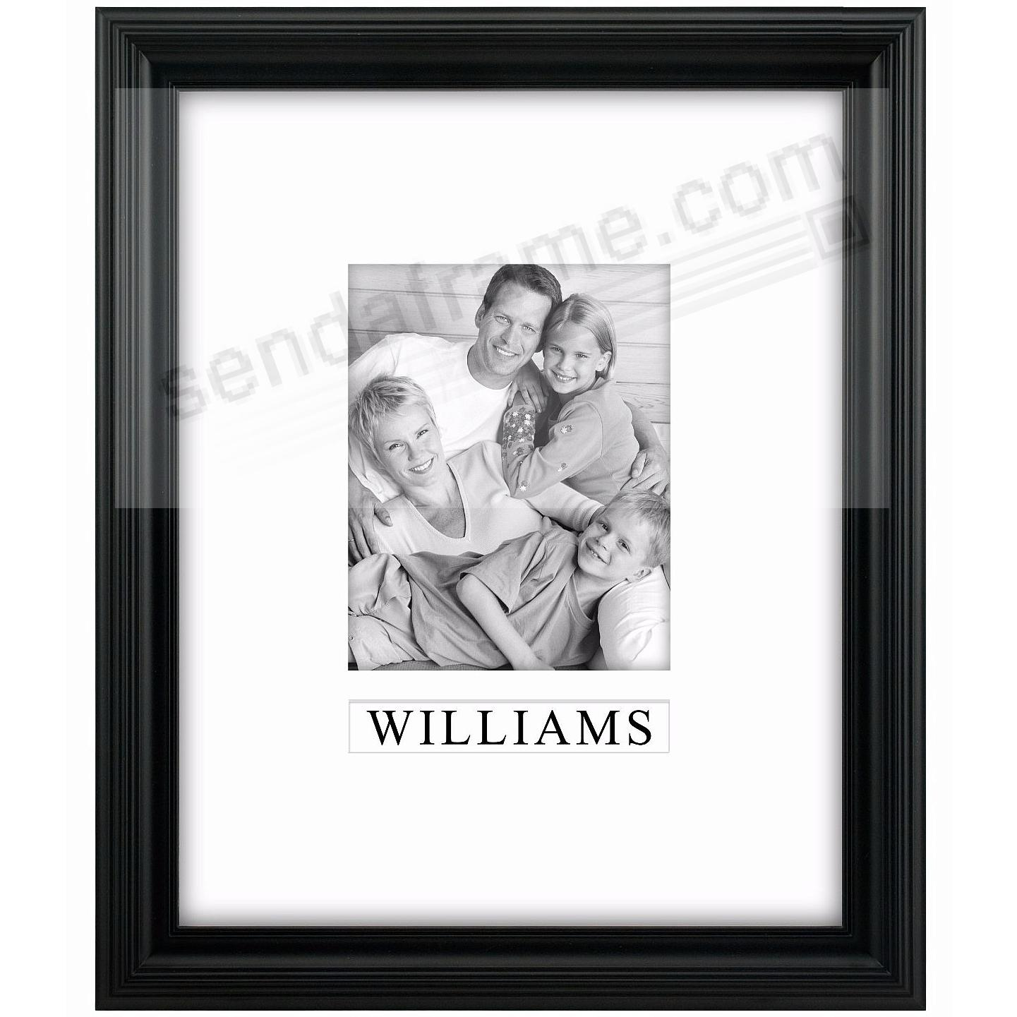 black portrait personalized matted 11x148x10 stepped frame by malden design