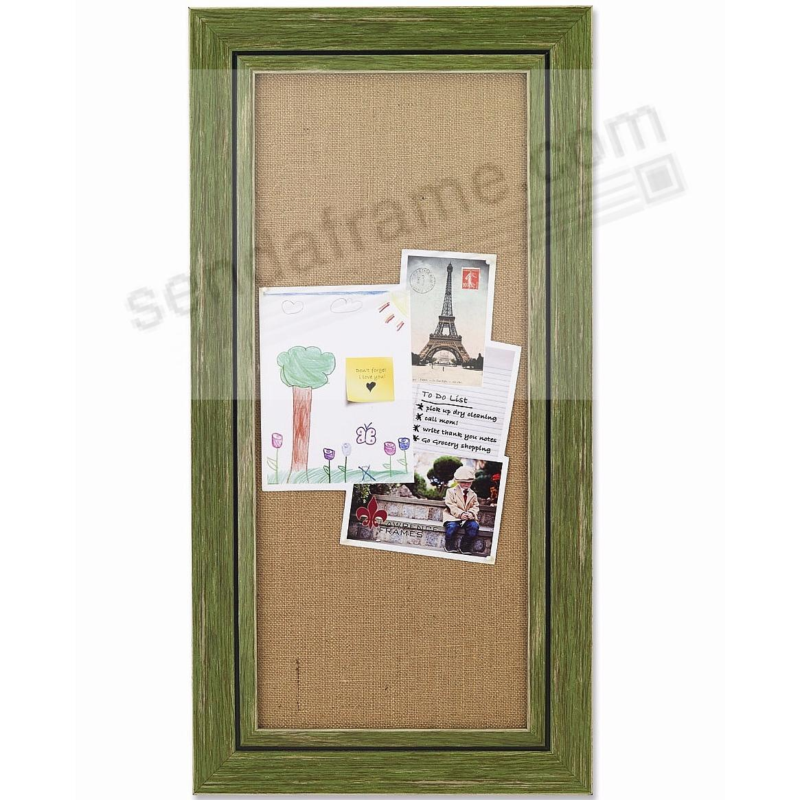 Weathered-Green Framed Burlap-board w/4 Pins by Lawrence® - Picture ...