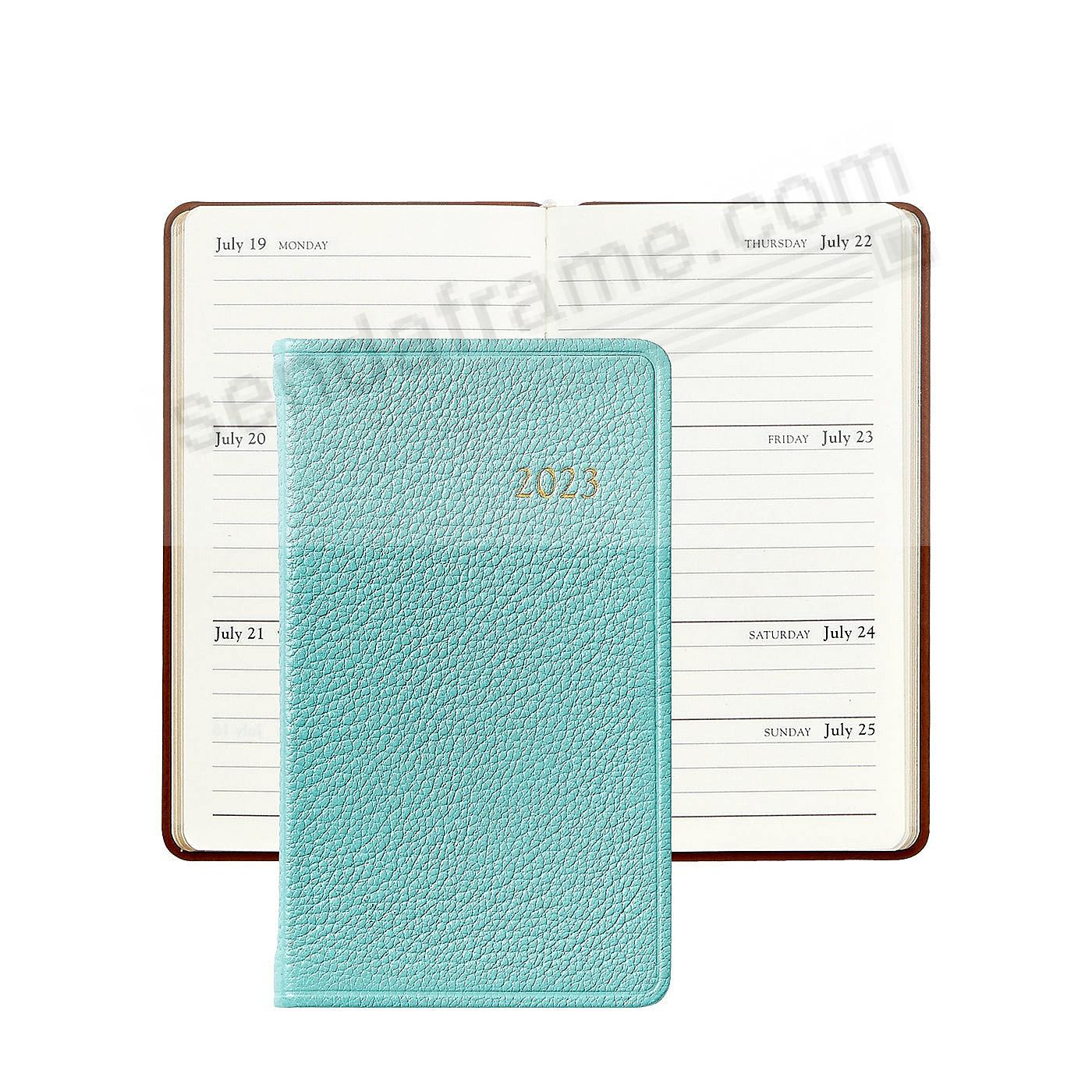 2021 BRIGHTS ROBINS-EGG BLUE 5-inch Pocket Datebook Leather by Graphic Image™