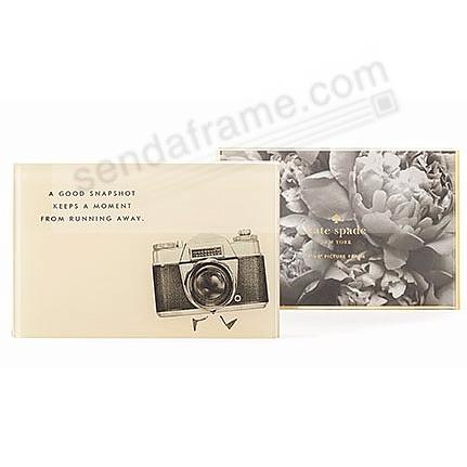 The SNAPSHOT 4x6 Acrylic Block picture frame by kate spade new york ...