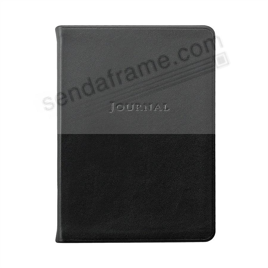 7in Medium Travel Journal in Soft Black fine Leather by Graphic Image™