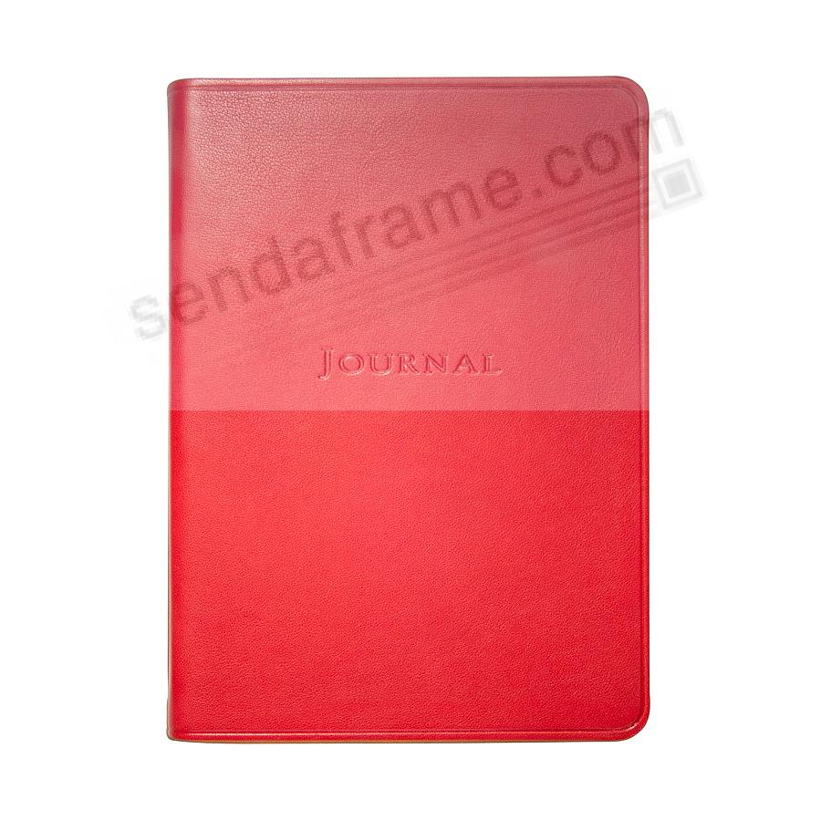 7in Medium Travel Journal in Soft RED fine Leather by Graphic Image™