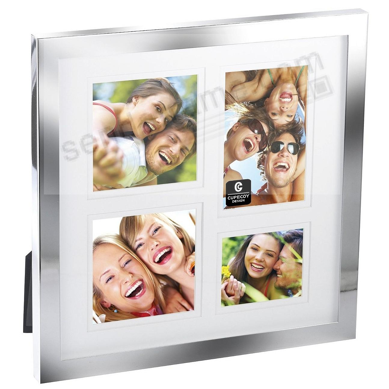 Silverplate 4-opening collage frame by Cupercoy® - Picture Frames ...