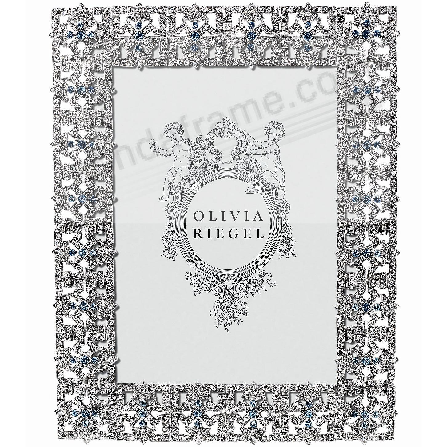 SILVER FONTAINE Austrian Crystal & Sapphire 5x7 frame by Olivia Riegel®