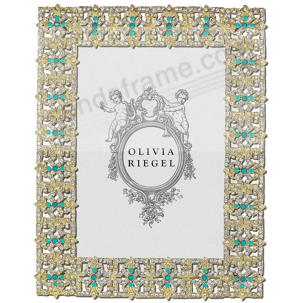 GOLD FONTAINE Austrian Crystal & Turquoise 5x7 frame by Olivia ...