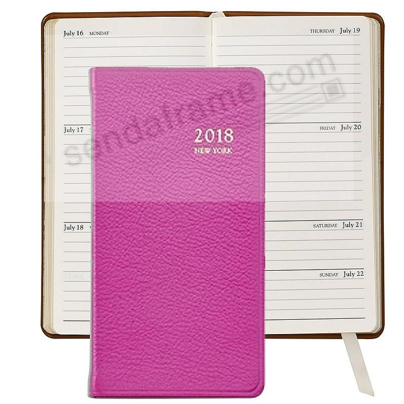 2018 NEW YORK CITY Edition 6-inch DIARY BRIGHTS ORCHID Leather by Graphic Image™