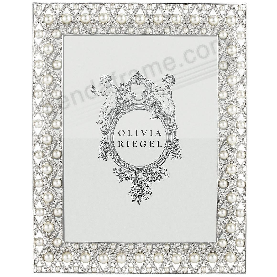 Picture frames photo albums personalized and engraved digital pegeen austrian perle crystal 8x10 frame by olivia riegelreg jeuxipadfo Image collections