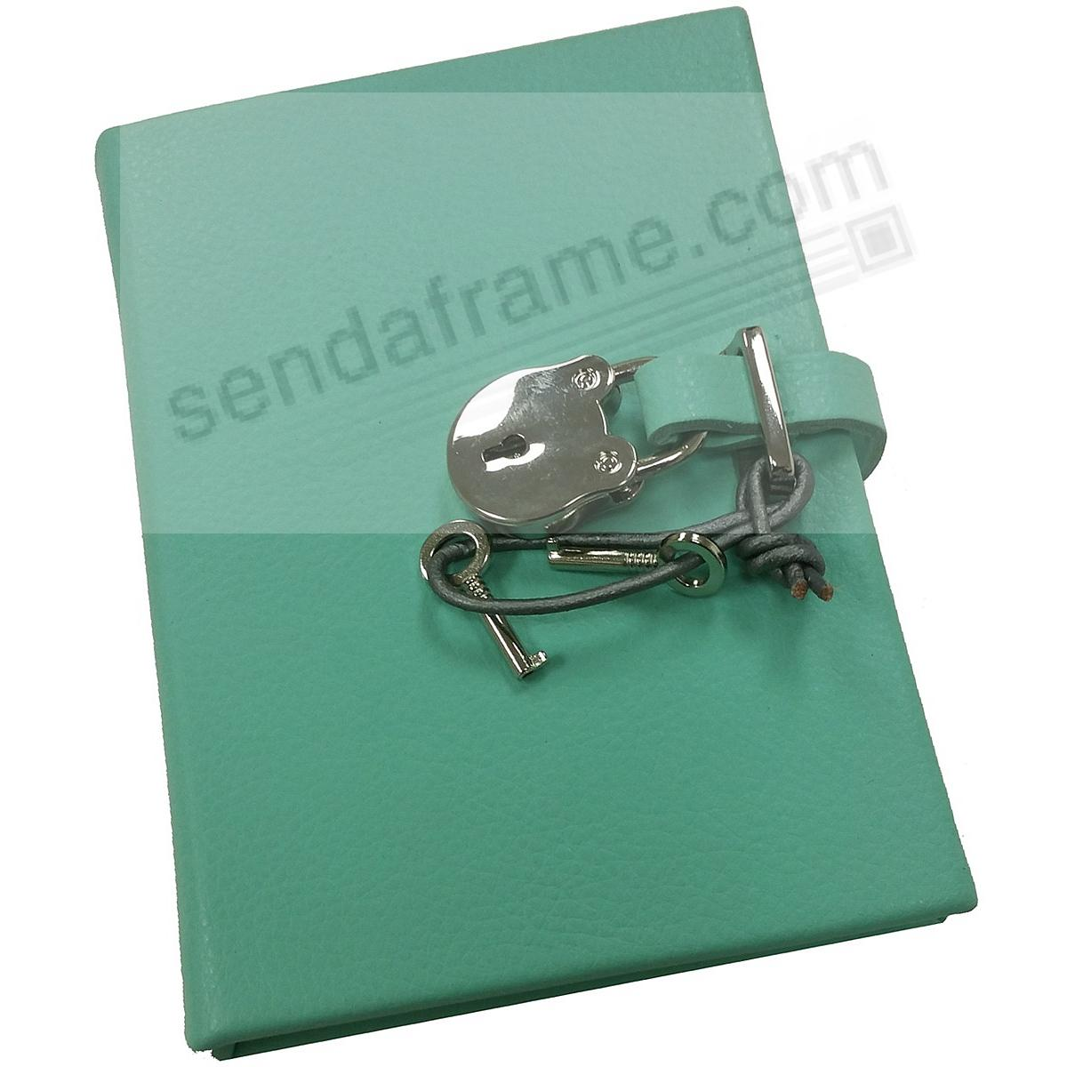 Pebble-Aqua DIARY (Small) with Silver Lock Eco-leather by Graphic Image™