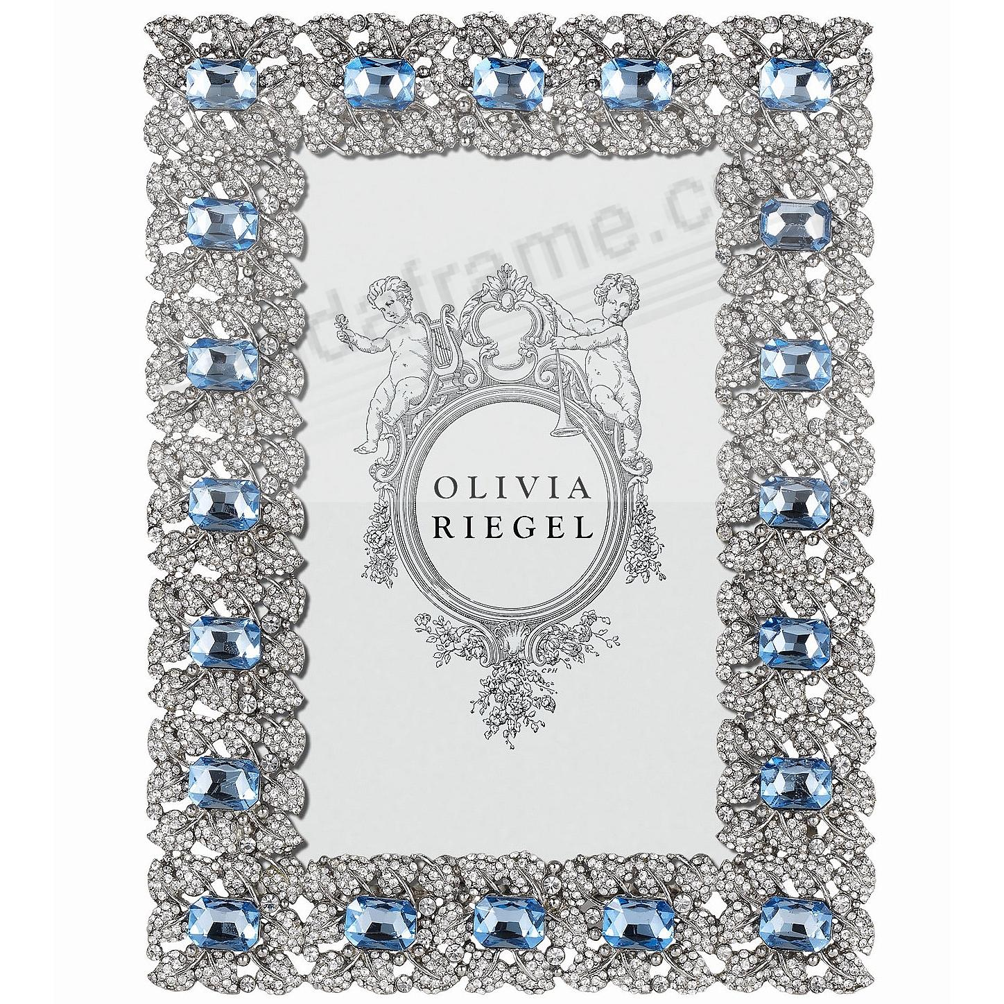 SILVER GENEVIEVE Austrian Crystal & Sapphire 4x6 frame by Olivia Riegel®