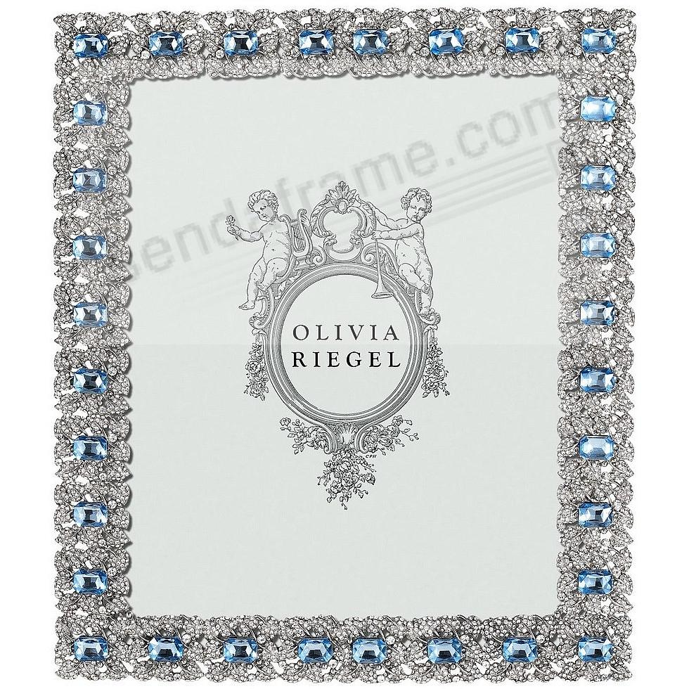 SILVER GENEVIEVE Austrian Crystal & Sapphire 8x10 frame by Olivia Riegel®
