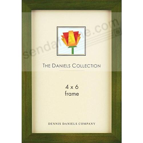 Green-stained oak square-corner GALLERY WOODS 4x6 frame by Dennis Daniels®