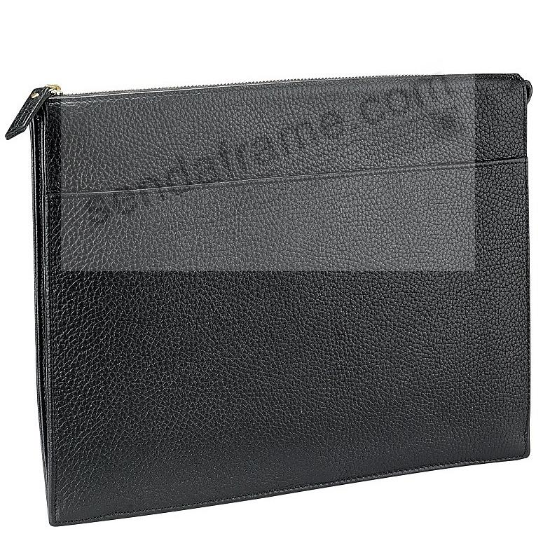 ATTACHE CASE Black Pebble-Grain Fine Leather by Graphic Image™