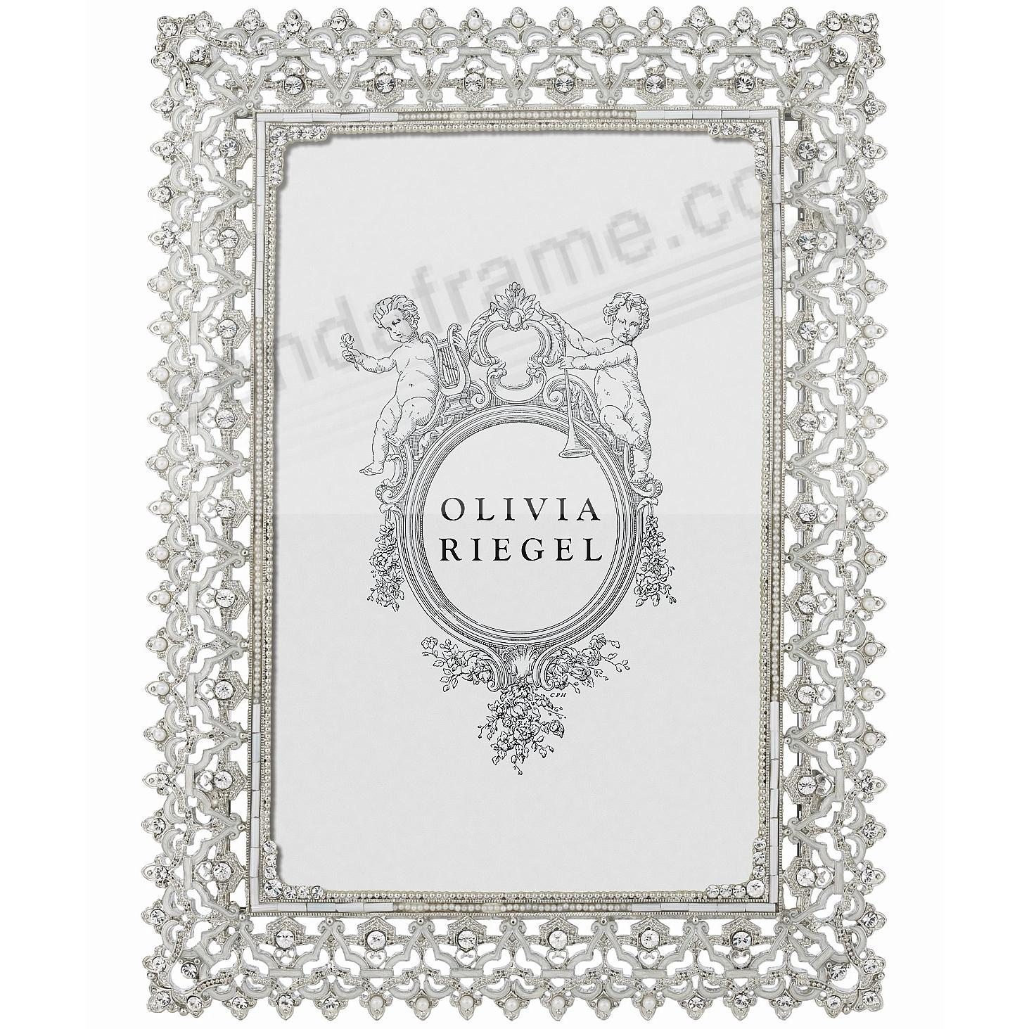 NOBLE SILVER Austrian Crystal 5x7 frame by Olivia Riegel® - Picture ...