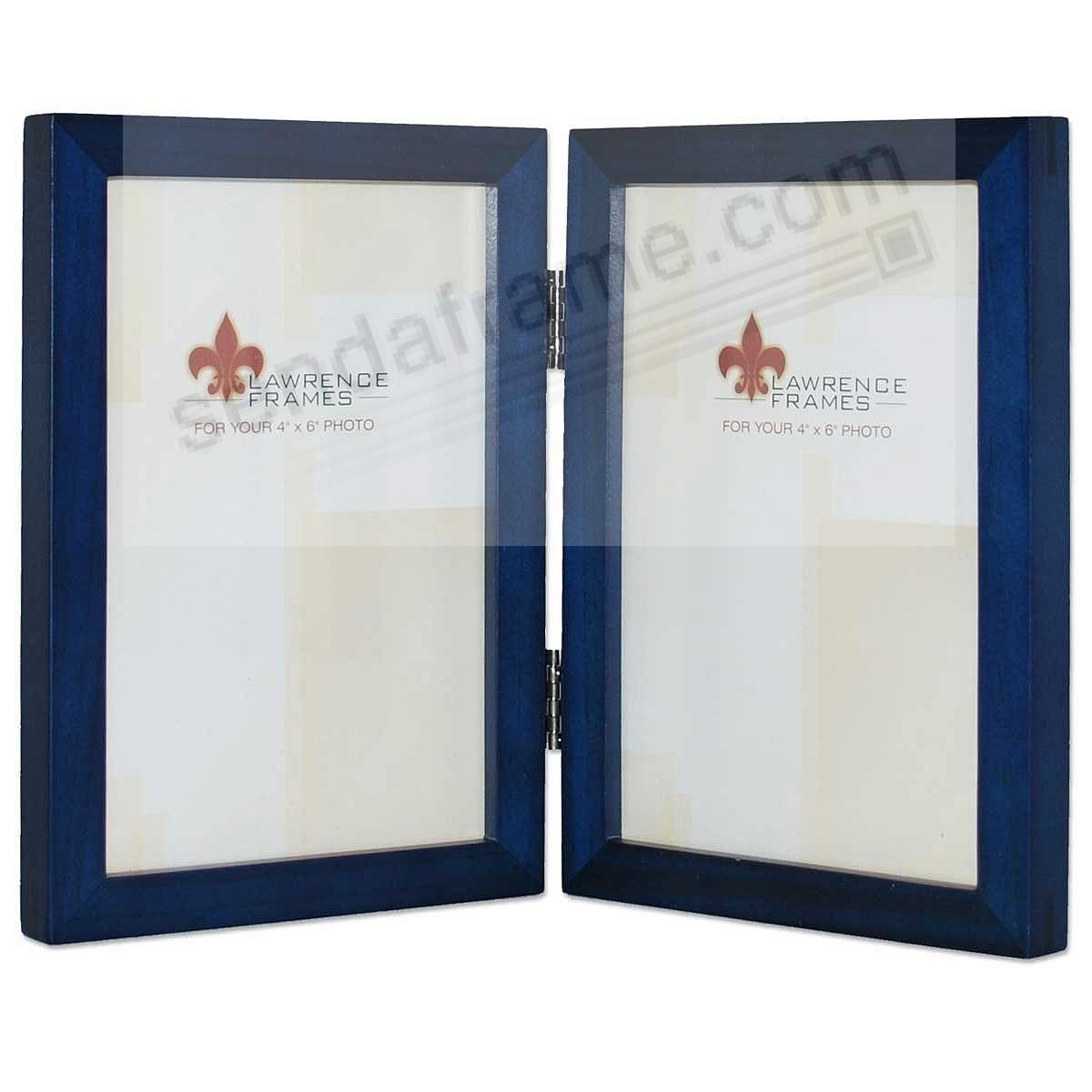 blue hinged double 4x6 frame by lawrencereg - Double Picture Frames