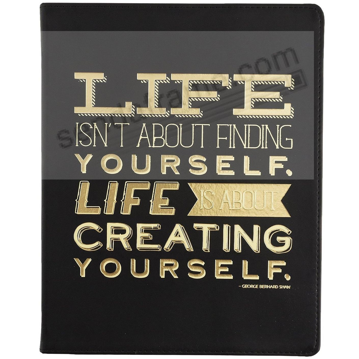 Black CREATING YOURSELF Leather-like 8x10 Journal by Eccolo™ LOFTY THINKING Collection
