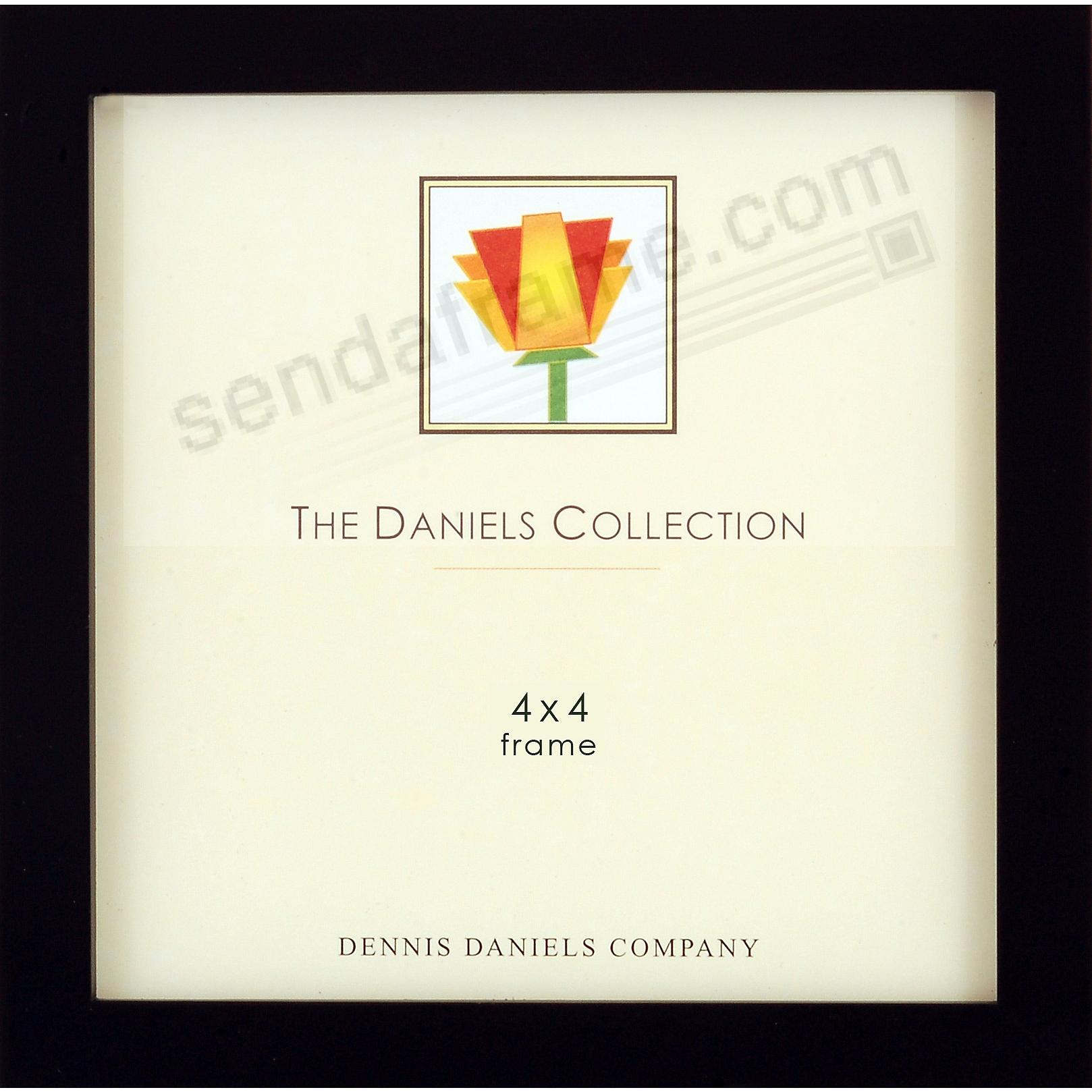 The DANIELS W41: Square Corner GALLERY WOODS Black 4x4 frame by Dennis Daniels®