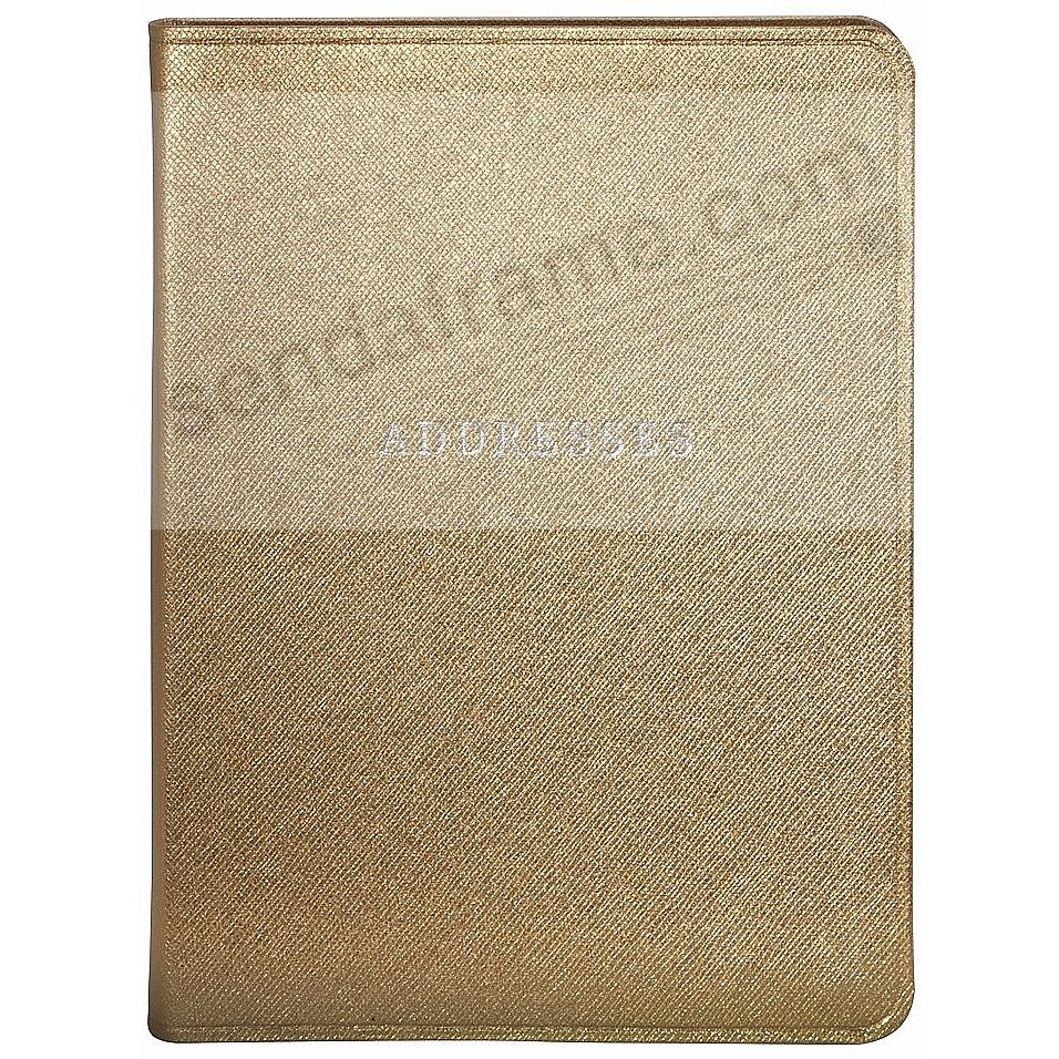 Gold Eco-leather Address Book by Graphic Image™