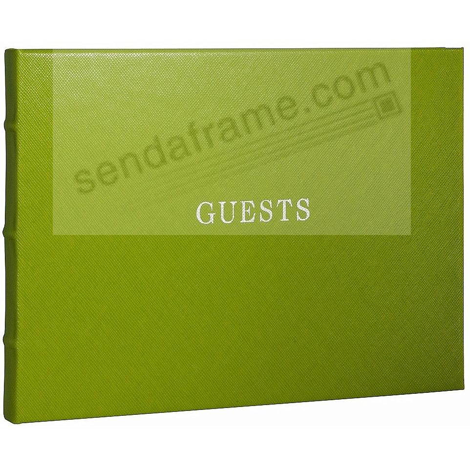 Bound Eco-leather LIME Guest Book for a lasting record by Graphic Image®