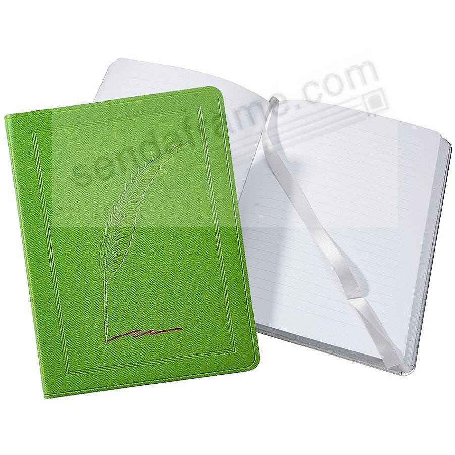 Saffiano-Lime QUILL Eco-leather 9in Large Journal by Graphic Image™