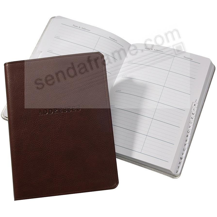 Brown Eco-leather Address Book by Graphic Image™