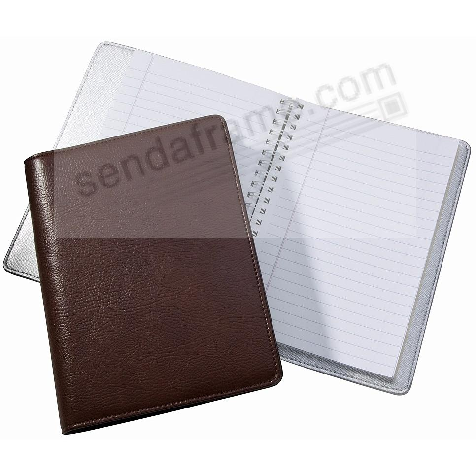 Wire-O-Notebook 7'' Brown Eco-Leather by Graphic Image™