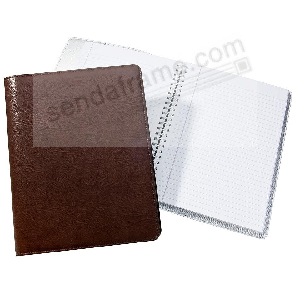 Wire-O-Notebook 9-inch Brown Eco-Leather by Graphic Image™