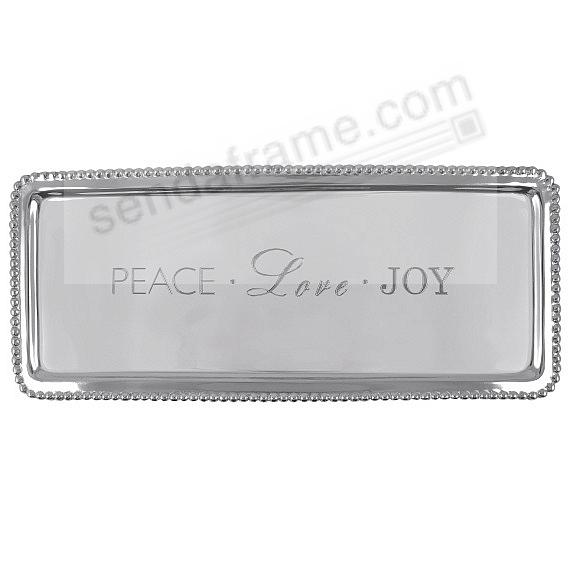 Statement Tray (LONG) PEACE LOVE JOY crafted by Mariposa®