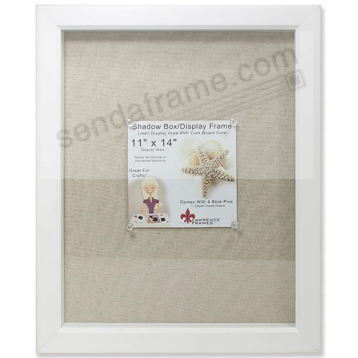White Deep Craft Linen-lined 11x14 ShadowBox by Lawrence®