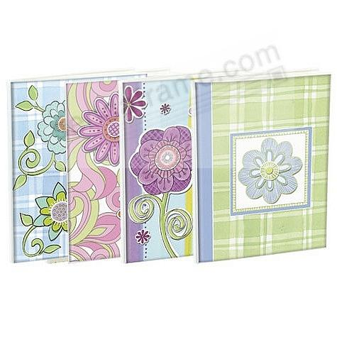 FLORAL BRAGBOOKS by Malden® hold 24 photos (sold in 4's)