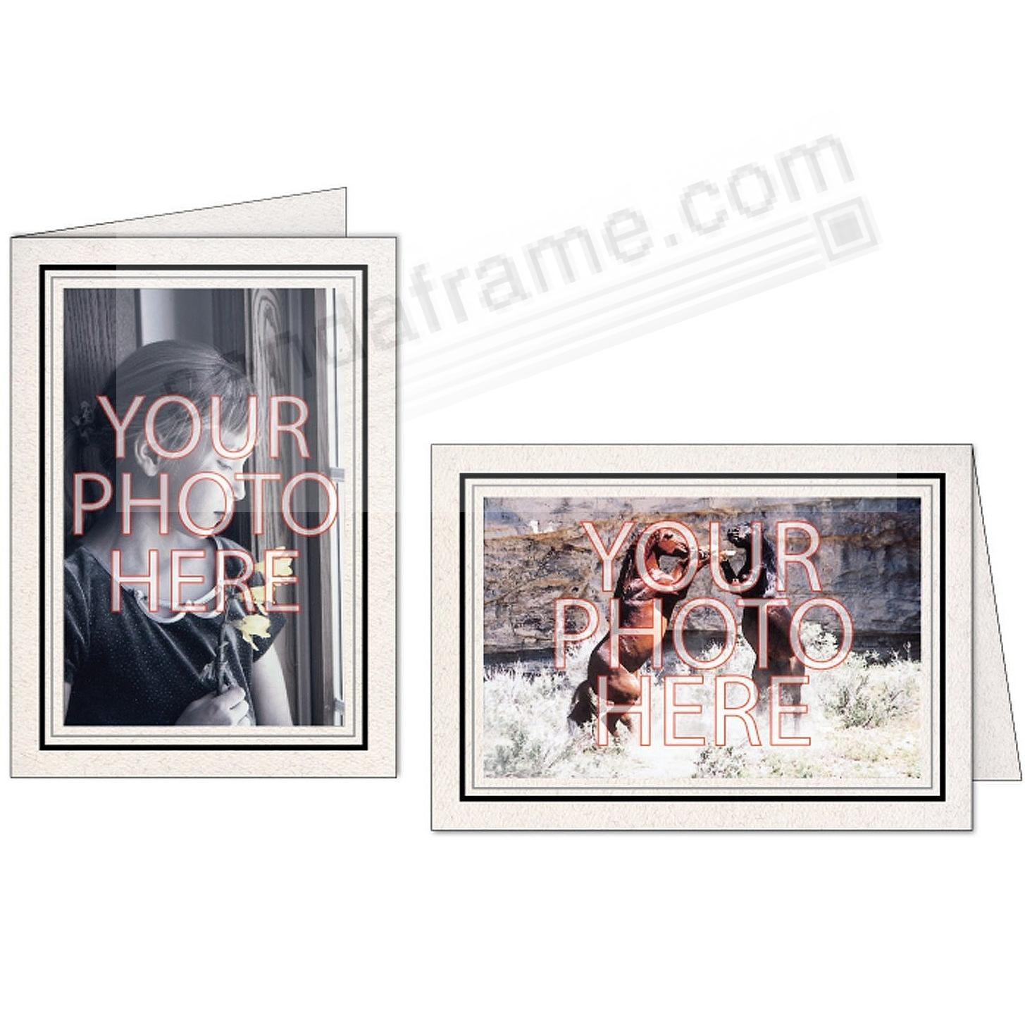 Natural Black+Granite Double Border Photo Insert Card (sold in 10s)