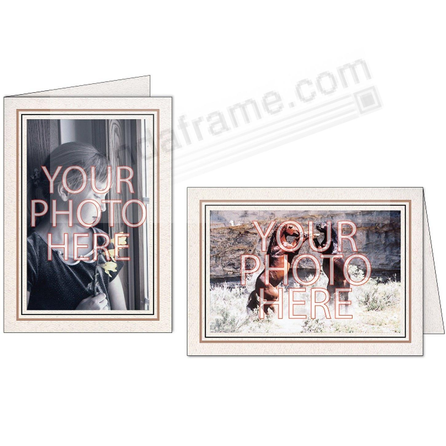Natural Sandstone+Black Double Border Photo Insert Card (sold in 10s)