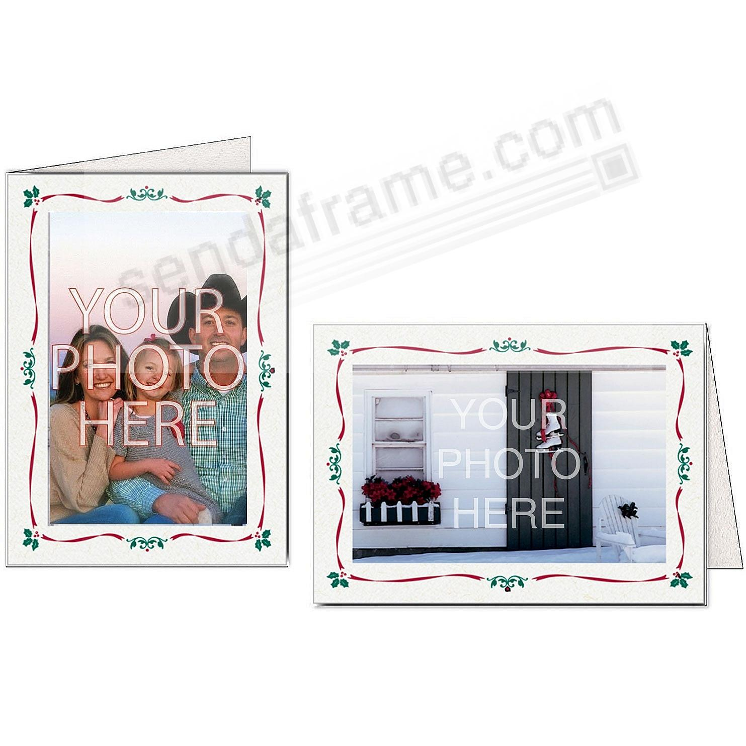 HOLLY BORDER Photo Insert Card (sold in 10s)