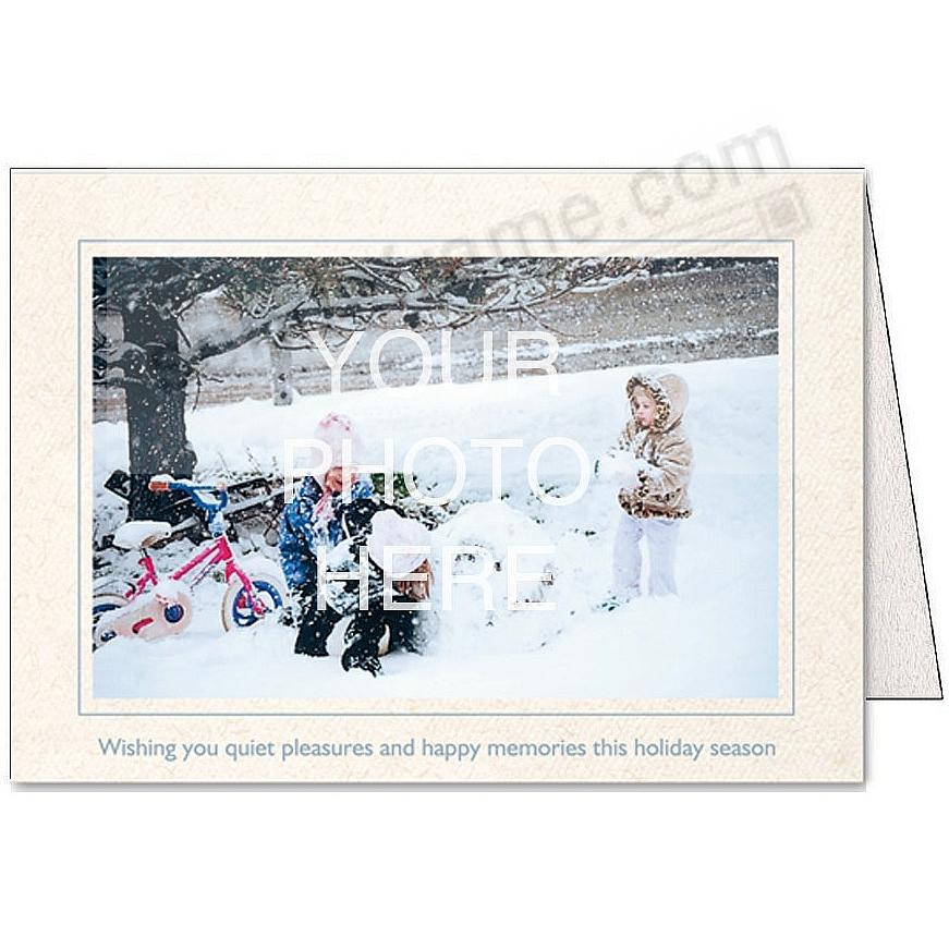 Natural WISHING YOU QUIET PLEASURES... Photo Insert Card (sold in 10s)