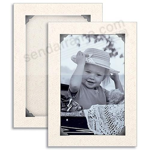 Natural VINTAGE CORNER Photo Insert Card (sold in 10s)