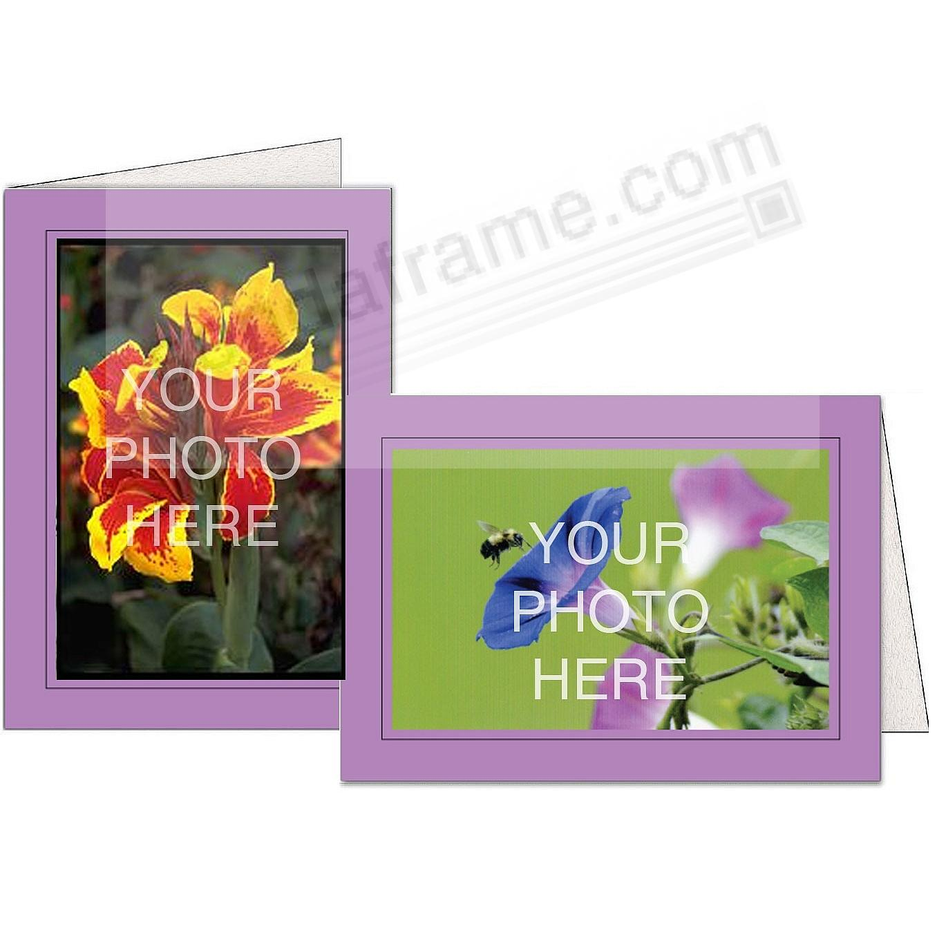 LILAC w/Black Trim Border Photo Insert Card (sold in 10s)