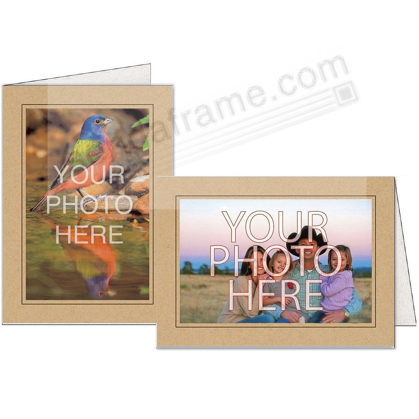 GINGER w/Black Trim Border Photo Insert Card (sold in 10s)