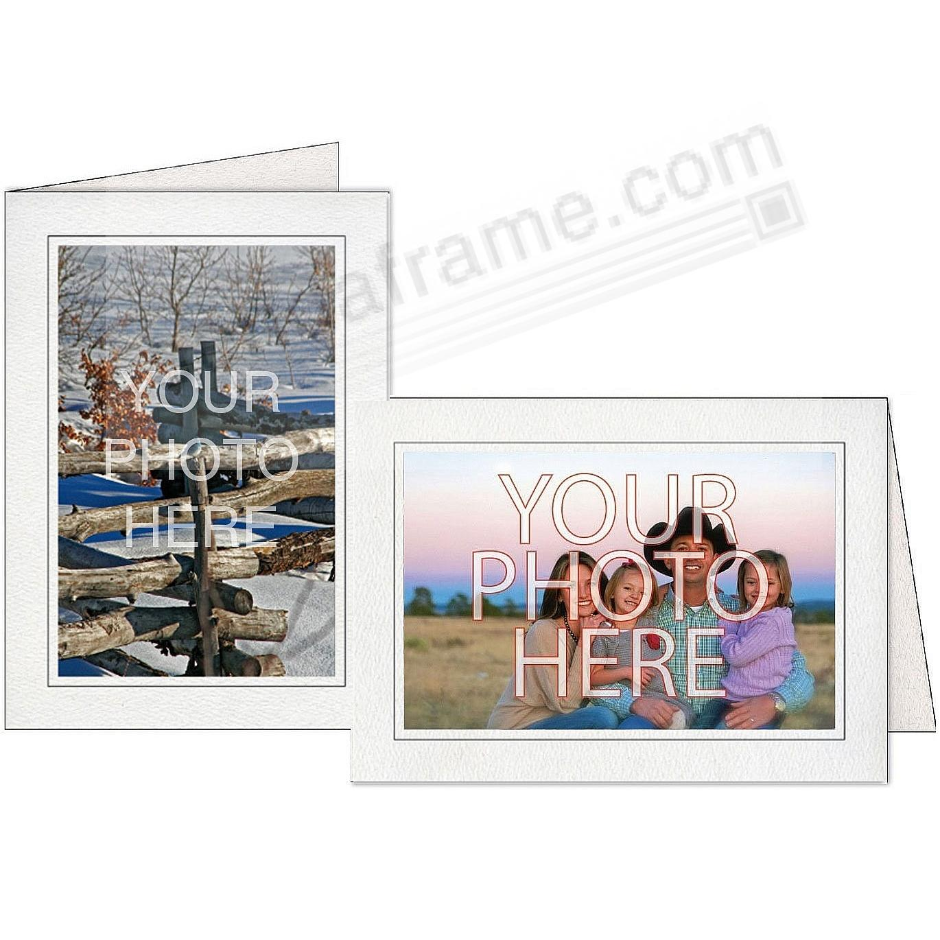 Gray w/Black Trim Border Photo Insert Card (sold in 10s)