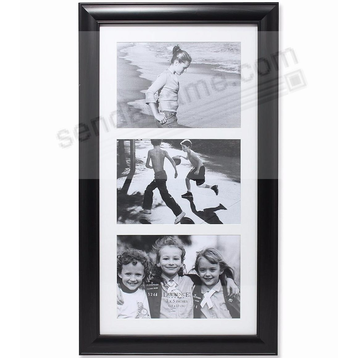 Black matted collage displays (3) 5x7 photos by Lawrence®