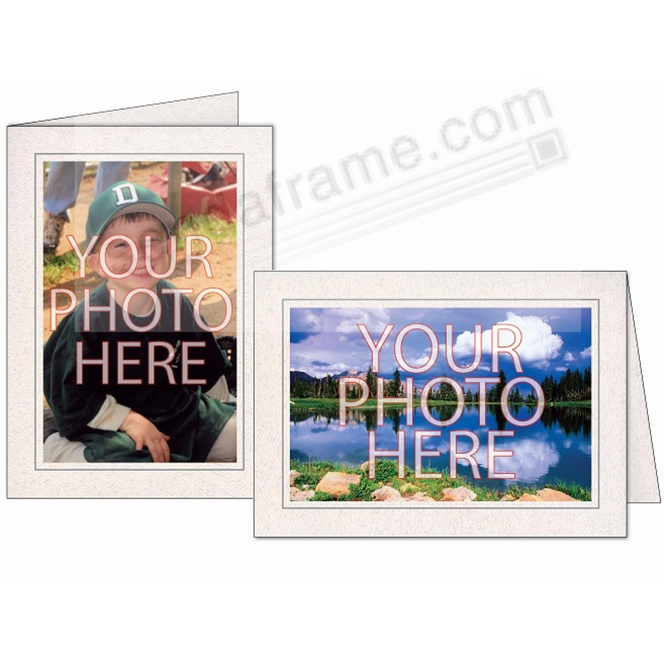 Natural w/Granite Trim Border Photo Insert Card (sold in 10s)