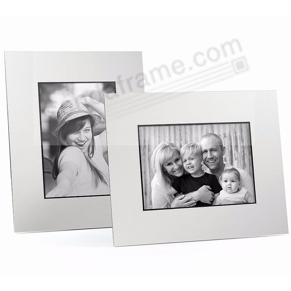 WHITE/Black Core BEVEL-CUT Easel 5x7 Frame Paper Stock (sold in 6s)