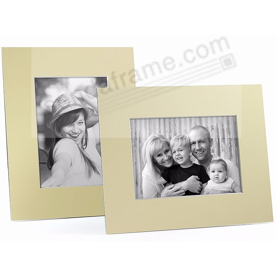 YELLOW/White Core BEVEL-CUT Easel 8x10 Frame Paper Stock (sold in 6s)