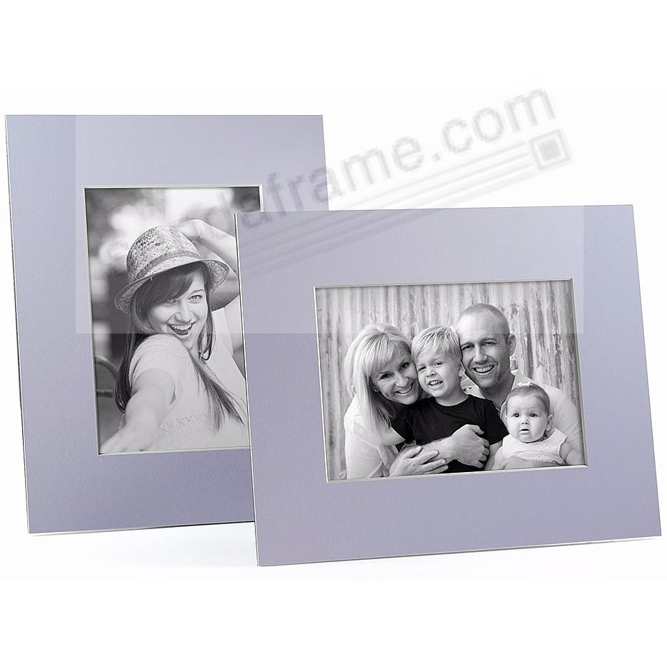 LILAC/White Core BEVEL-CUT Easel 5x7 Frame Paper Stock (sold in 6s)