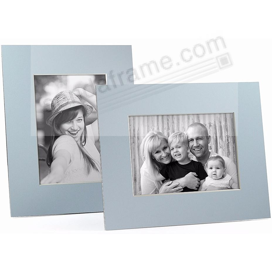 LT BLUE/White Core BEVEL-CUT Easel 5x7 Frame Paper Stock (sold in 6s)